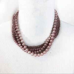 Jewelry - Multi strand pink pearl necklace
